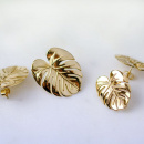 PALM LEAF EARRINGS GOLD L