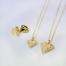 Golden Diamond Necklace Small