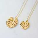 PALM LEAF NECKLACE GOLD L