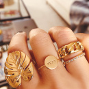 18K Gold Coin Ring