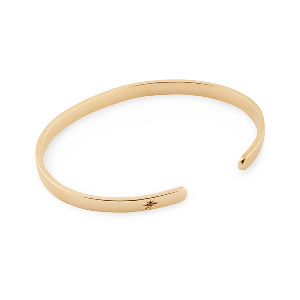 18K GOLD BANGLE BLK DIAMOND in the group SHOP at EMMA ISRAELSSON (brace031)