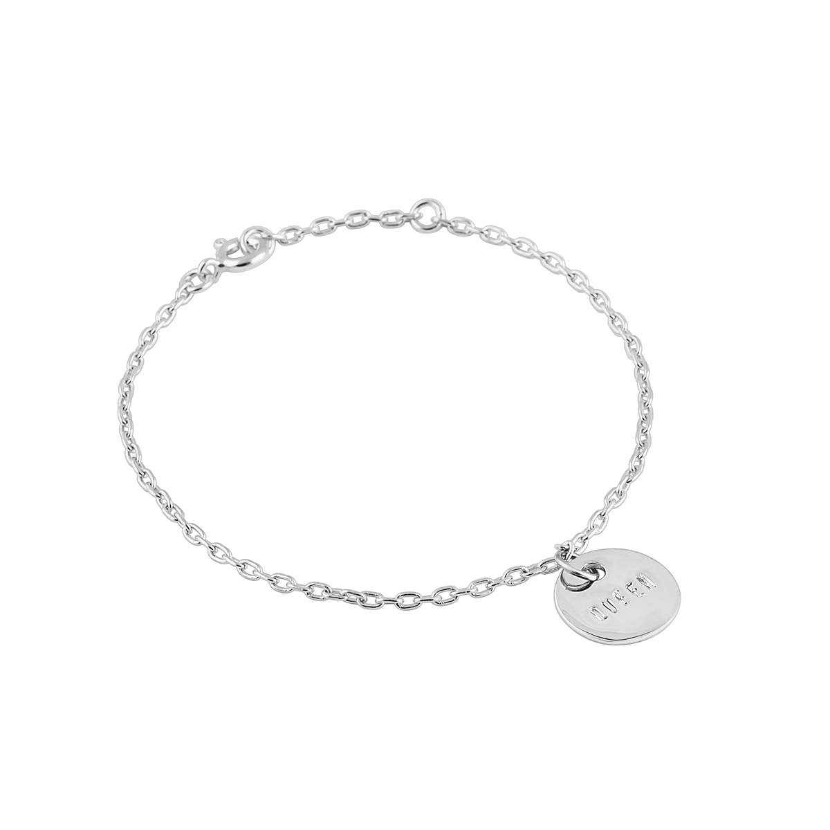 QUEEN COIN BRACELET SILVER in the group BRACELETS at EMMA ISRAELSSON (brace033)