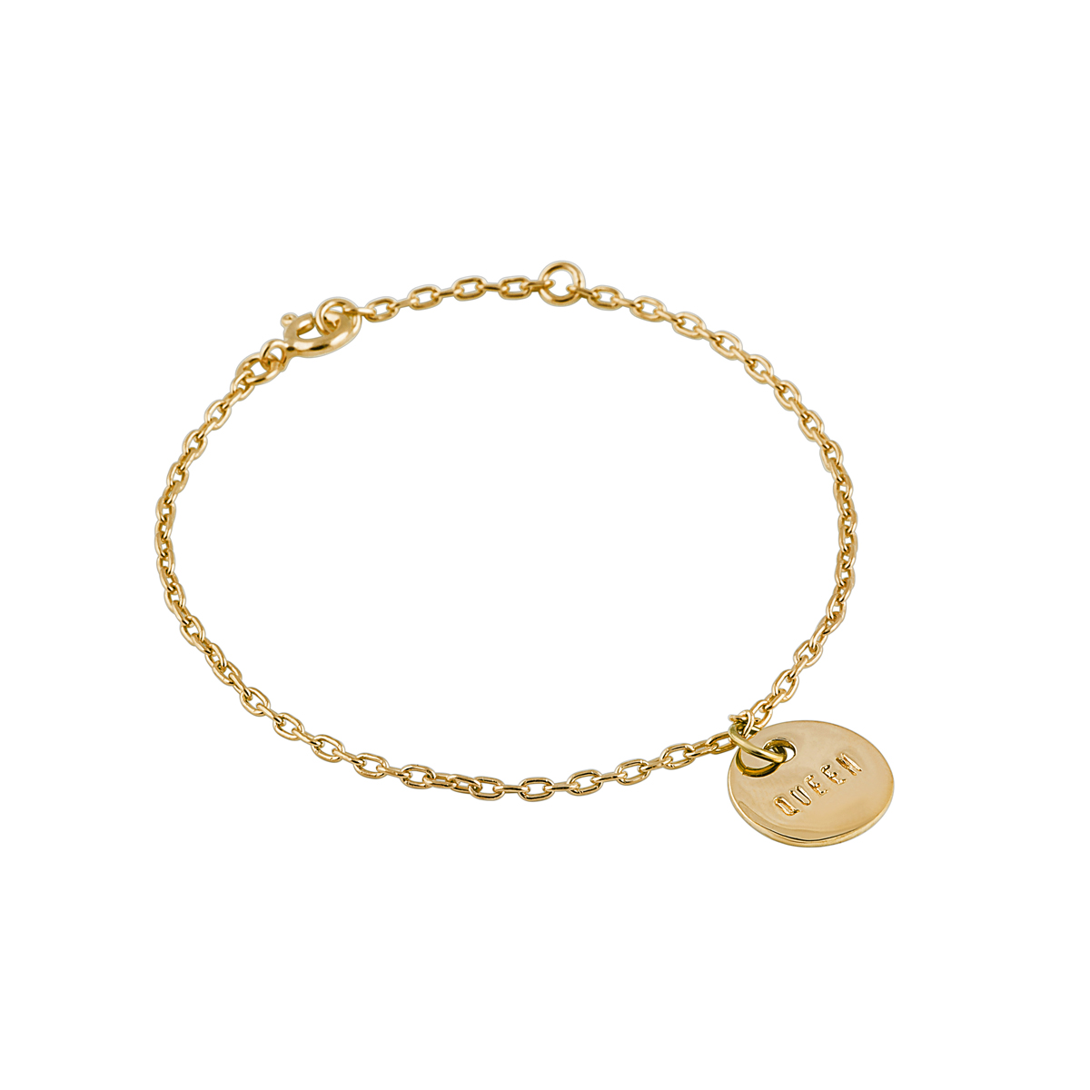 QUEEN COIN BRACELET GOLD in the group BRACELETS at EMMA ISRAELSSON (brace034)