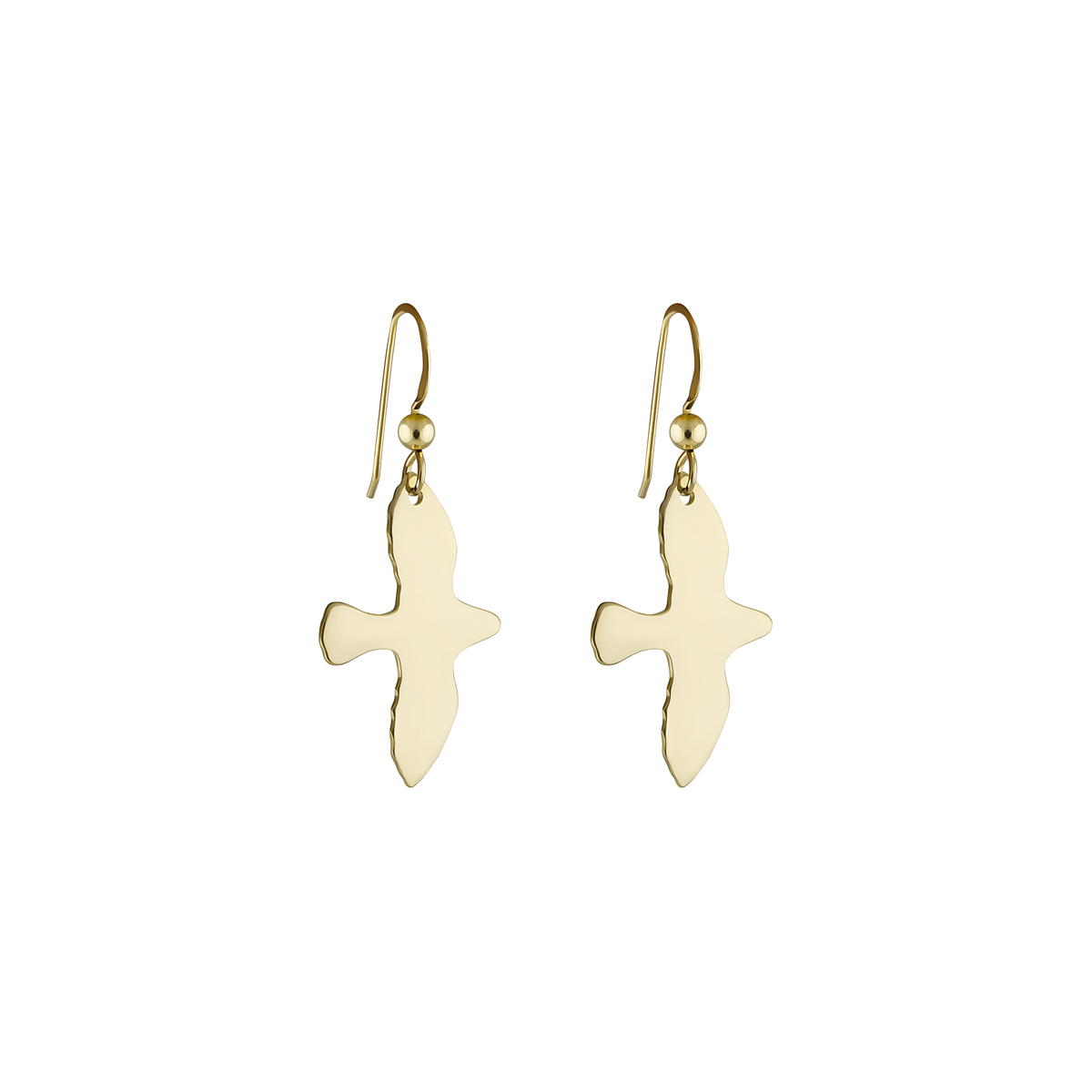 GOLDEN DOVE EARRINGS in the group EARRINGS at EMMA ISRAELSSON (ear022)