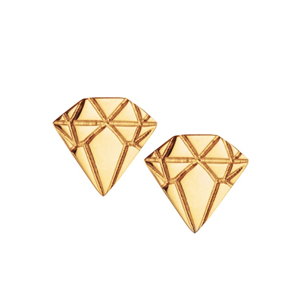 18K Gold Diamond Earrings in the group SHOP / EARRINGS at EMMA ISRAELSSON (ear027)