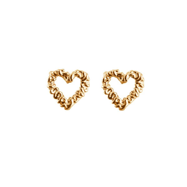 18K HEART EARRINGS in the group SHOP at EMMA ISRAELSSON (ear034)