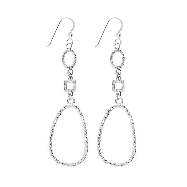 DROP ANTIQUE EARRINGS SILVER in the group OUTLET at EMMA ISRAELSSON (ear050)