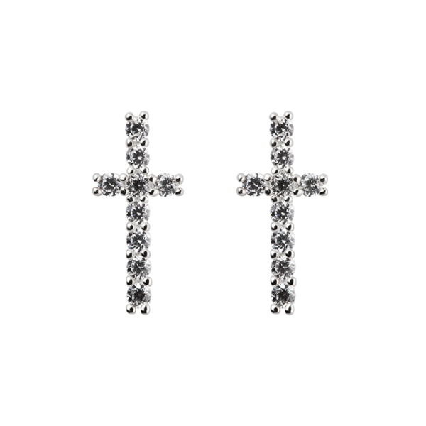 WHITE CROSS EARRINGS in the group OUTLET at EMMA ISRAELSSON (ear062)