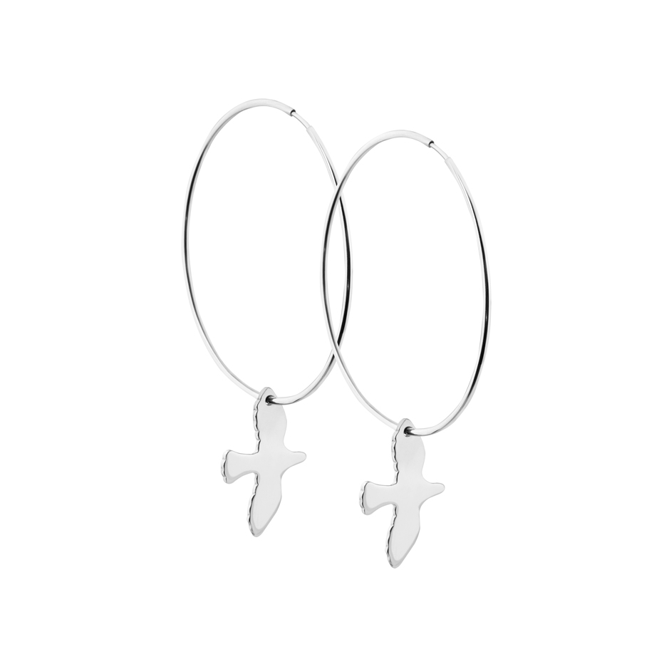 DOVE HOOPS SILVER in the group EARRINGS at EMMA ISRAELSSON (ear067)