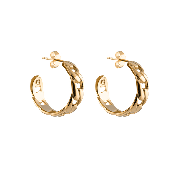 Link Hoops Gold in the group SHOP / EARRINGS at EMMA ISRAELSSON (ear071)