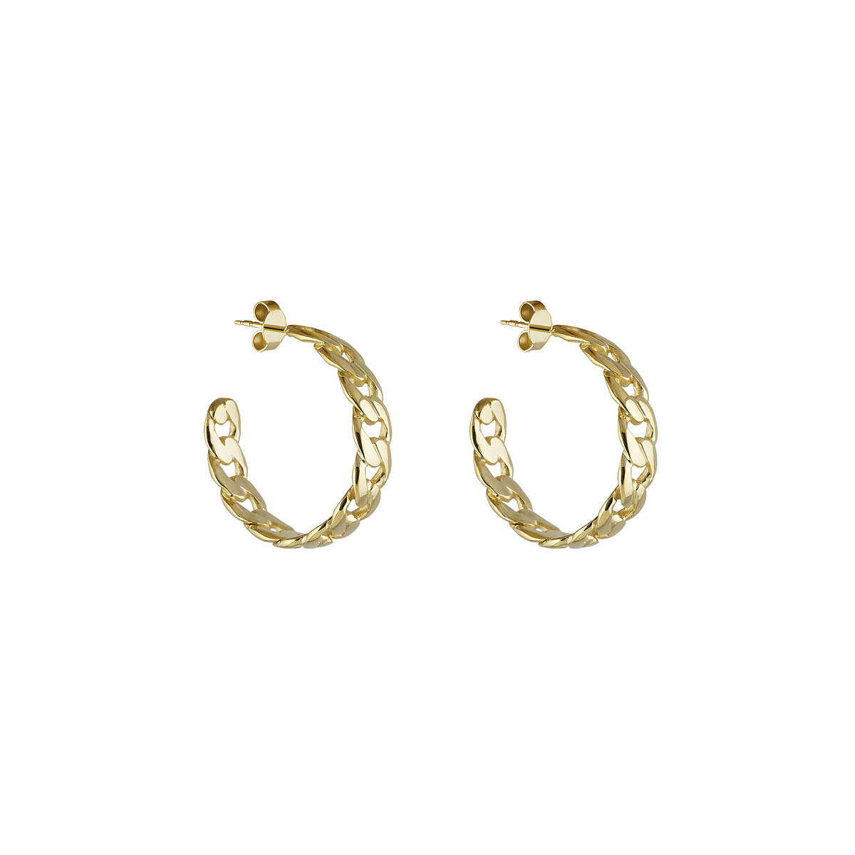 BIG LINK HOOPS GOLD in the group EARRINGS at EMMA ISRAELSSON (ear087)