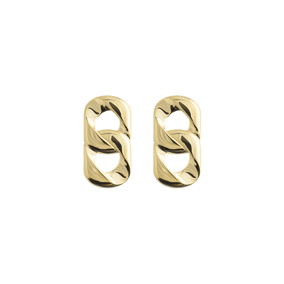 Big Link Earrings Gold in the group SHOP / EARRINGS at EMMA ISRAELSSON (ear089)