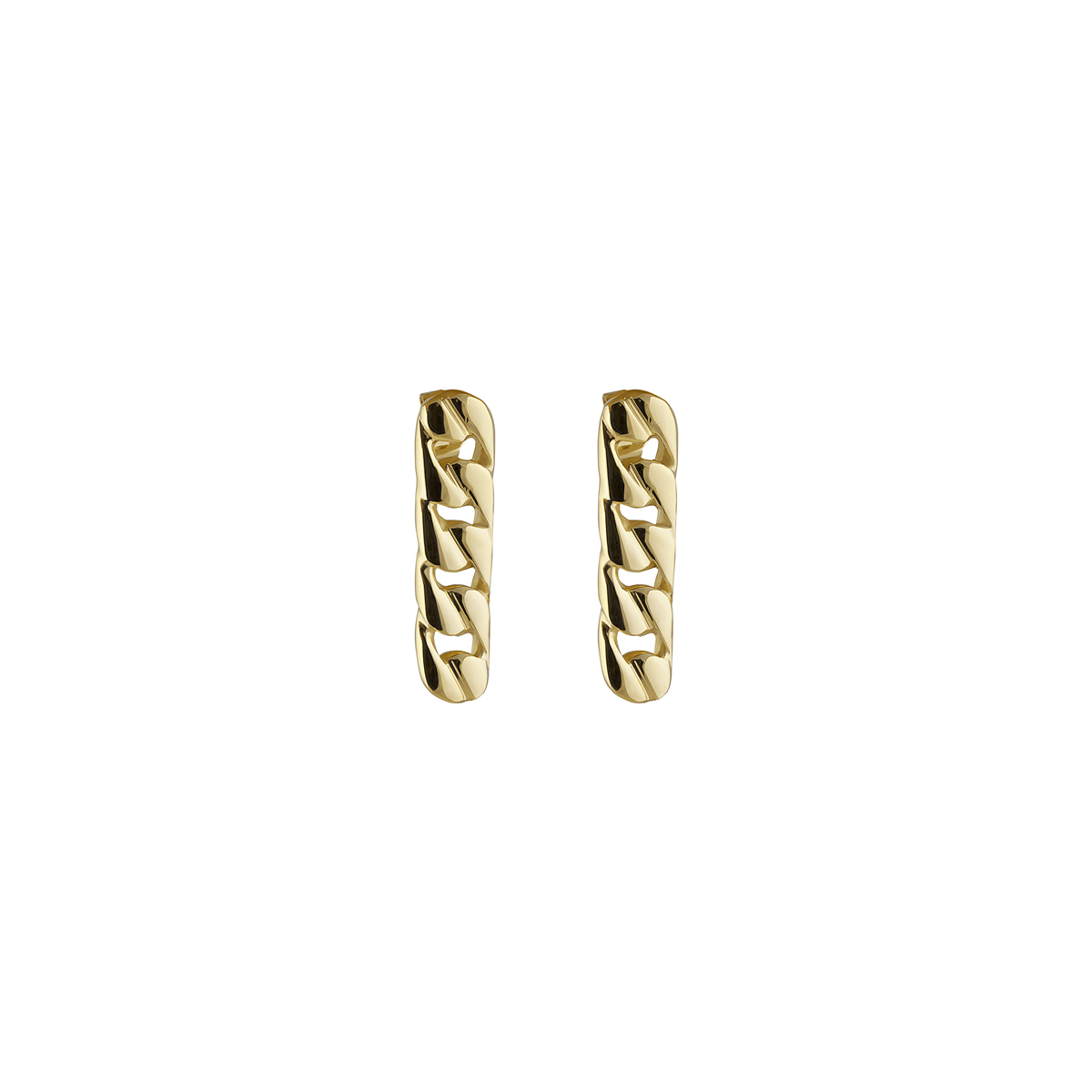 Pin Link Earrings Gold in the group EARRINGS at EMMA ISRAELSSON (ear091)