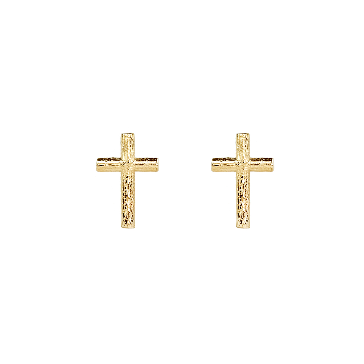 BRANCH CROSS PIN EARRINGS GOLD in the group NEWS at EMMA ISRAELSSON (ear105)