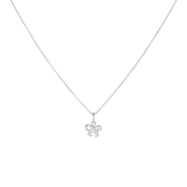 Silver Bow Necklace in the group OUTLET at EMMA ISRAELSSON (neck051)