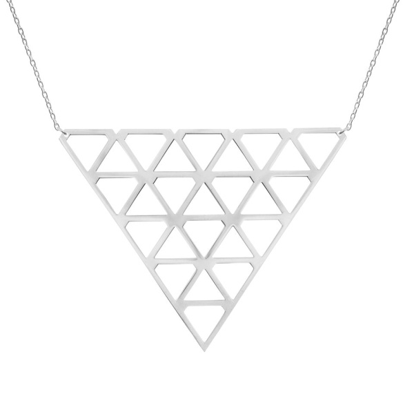 SUPER DIAMOND NECKLACE L SILVER in the group SHOP at EMMA ISRAELSSON (neck076)