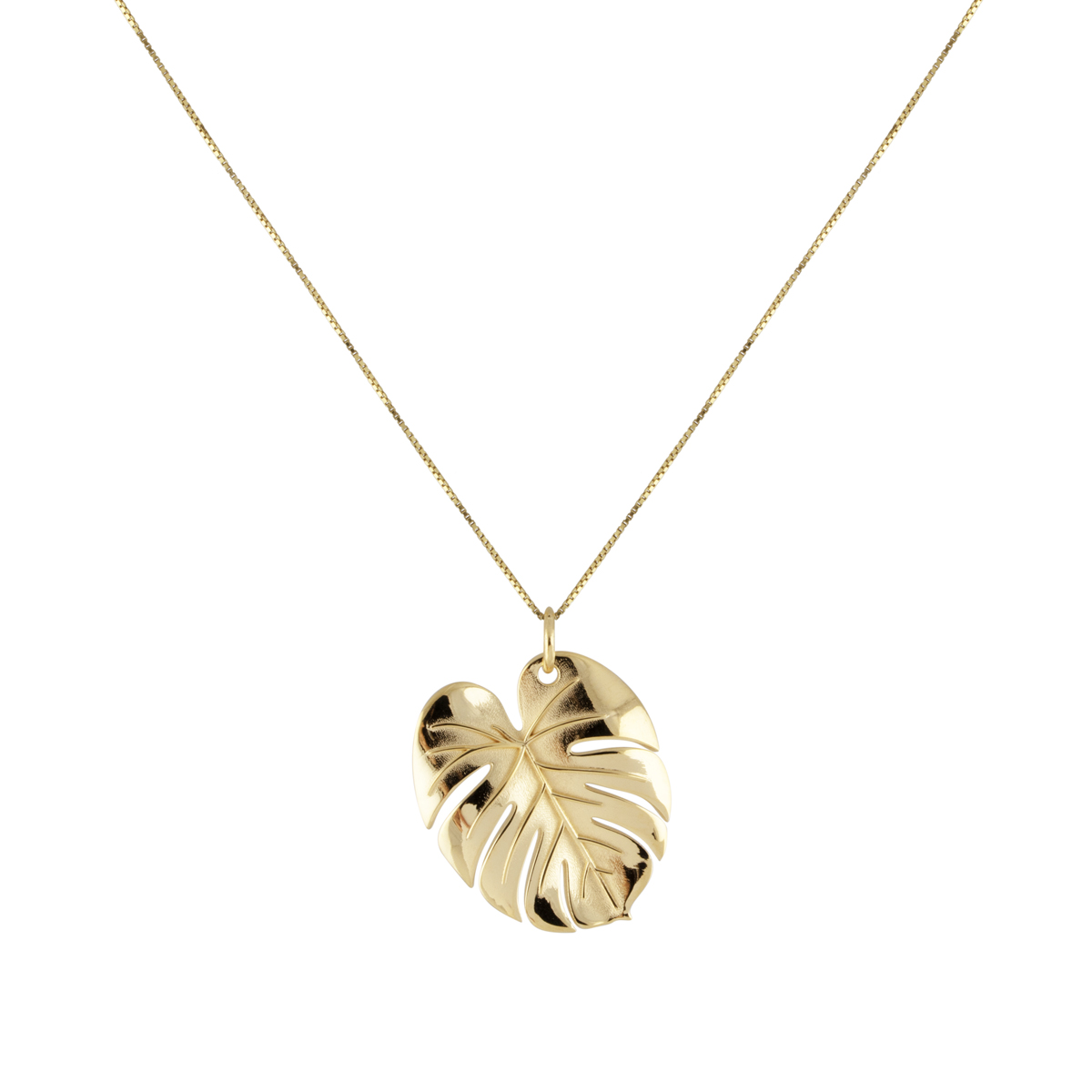 PALM LEAF NECKLACE GOLD L in the group NECKLACES at EMMA ISRAELSSON (neck100)