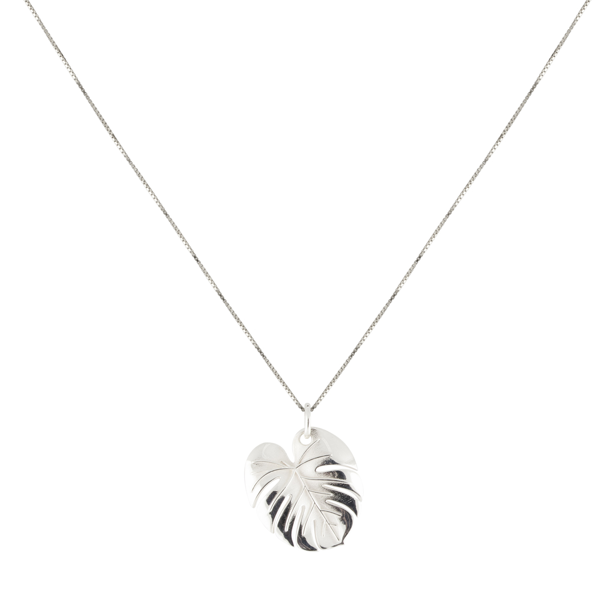Palm Leaf Necklace Silver in the group NECKLACES at EMMA ISRAELSSON (neck101)