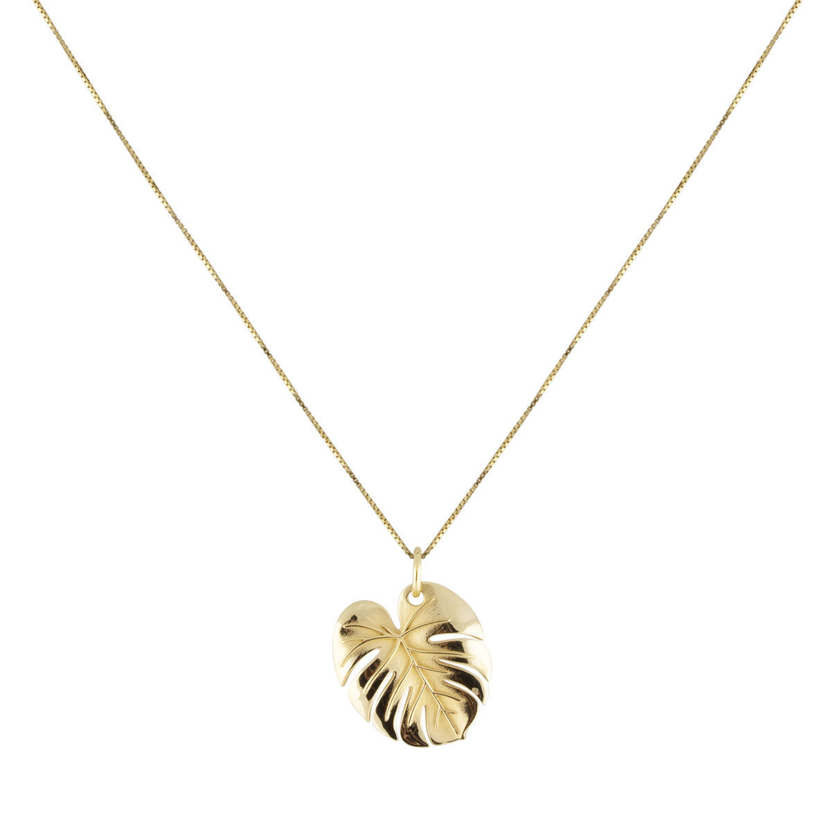 Palm leaf necklace gold in the group SHOP / NECKLACES at EMMA ISRAELSSON (neck102)