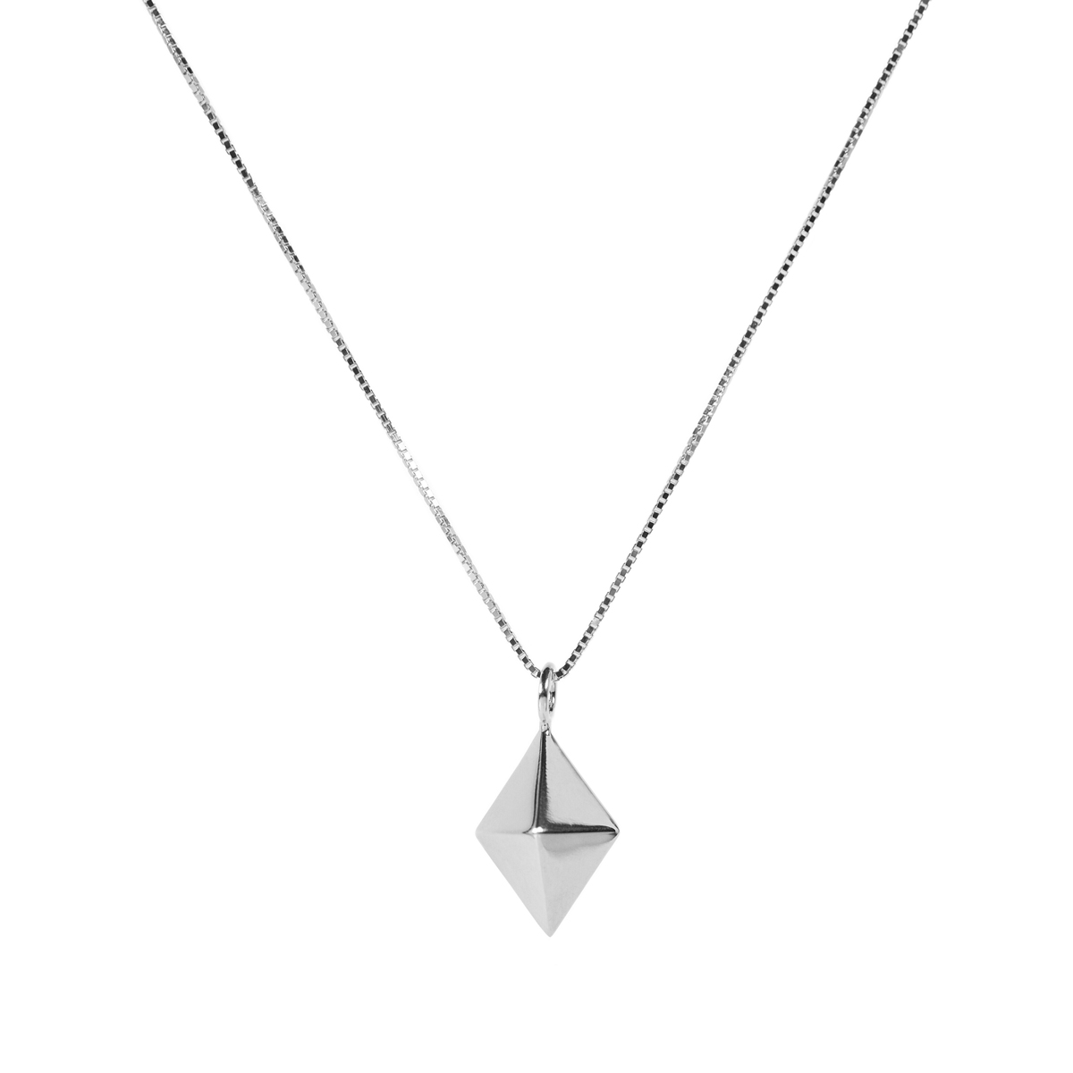 PPG DIAMOND NECKLACE SILVER LARGE  in the group NECKLACES at EMMA ISRAELSSON (neck113)