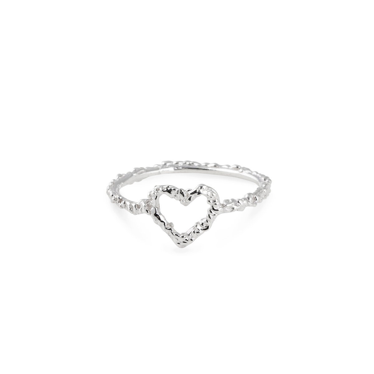 SILVER HEART RING in the group SHOP / Collections / HEART at EMMA ISRAELSSON (ring028)
