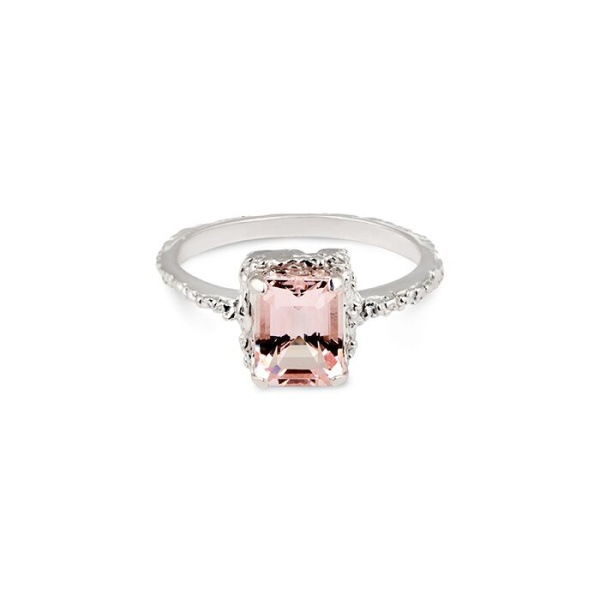 White Gold Queen Morganite Ring in the group SHOP at EMMA ISRAELSSON (ring065)