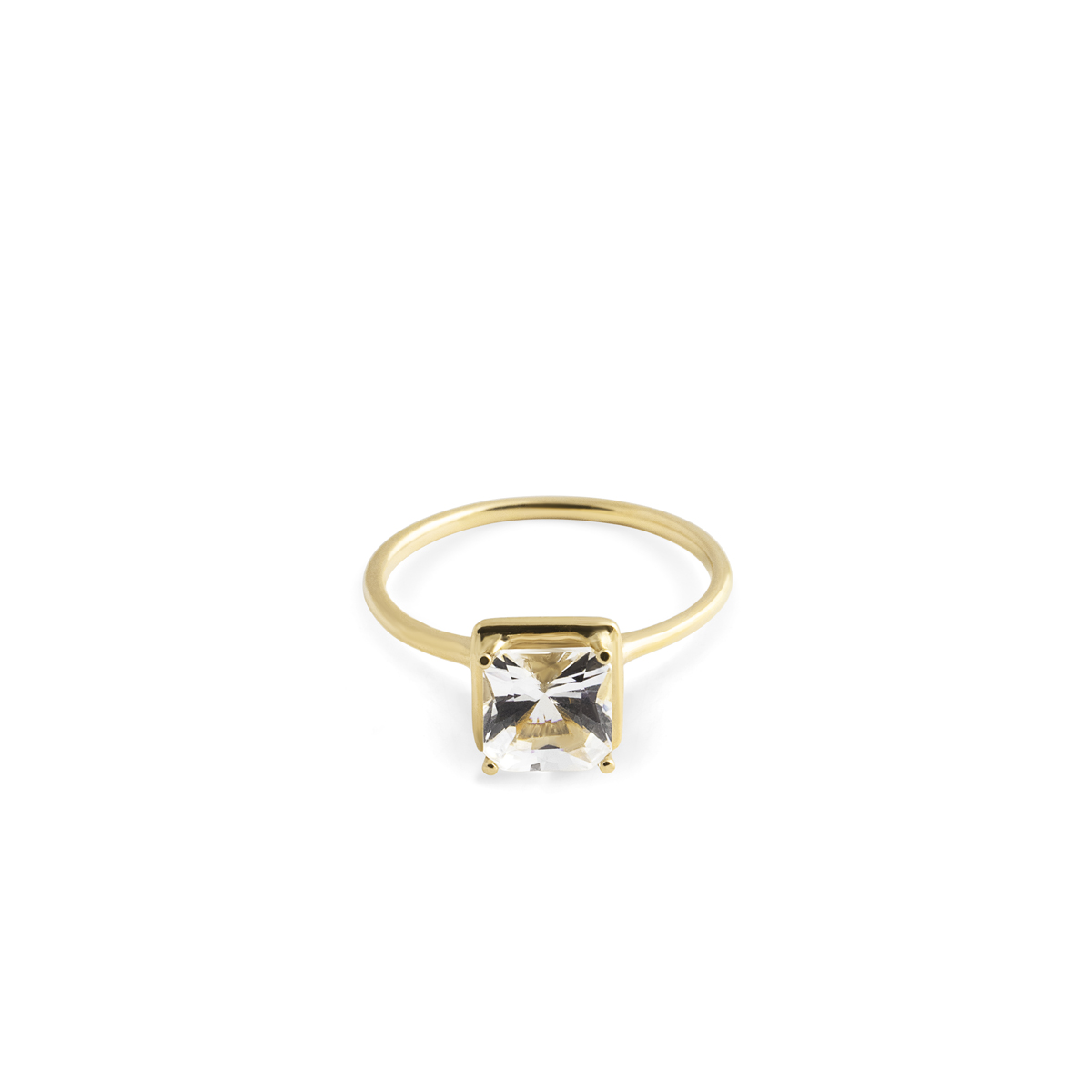 18K THIN SQUARE TOPAZ RING in the group SHOP / RINGS at EMMA ISRAELSSON (ring077)