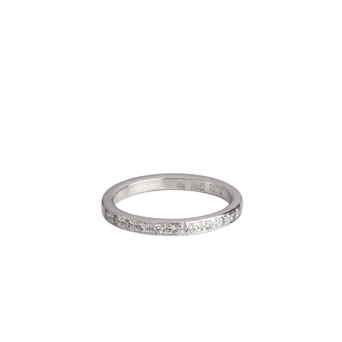 WHITE GOLD DIAMOND BAND RING in the group SHOP at EMMA ISRAELSSON (ring087)
