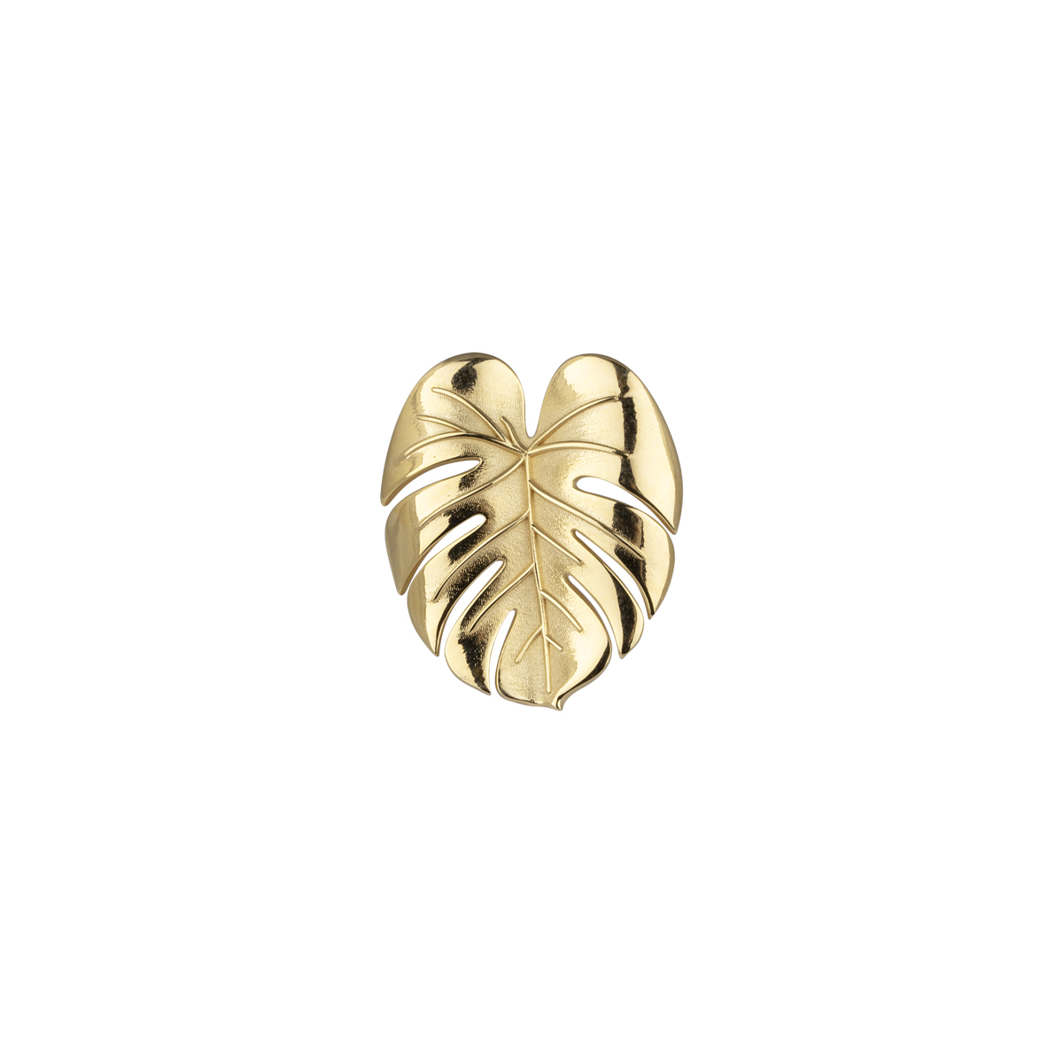 PALM LEAF RING GOLD in the group RINGS at EMMA ISRAELSSON (ring093)