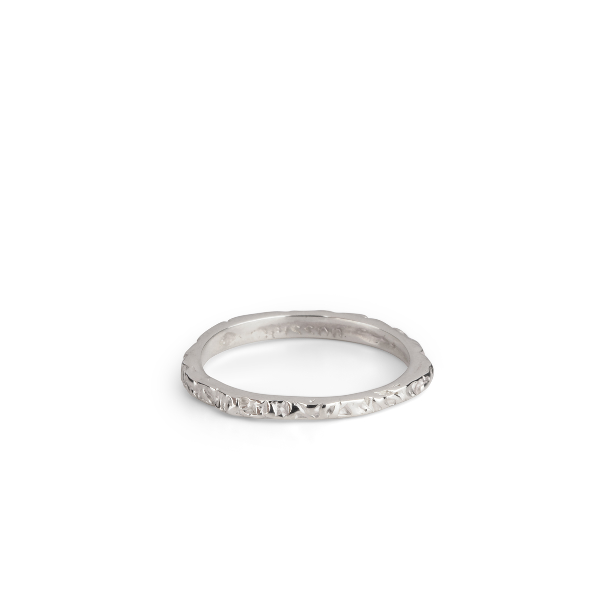 White gold Thin Band ring 	 in the group OUTLET at EMMA ISRAELSSON (thin-band-white)