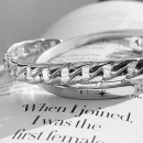 link bangle silver