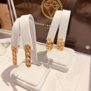 PIN LINK EARRINGS GOLD