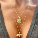 18K GOLD DOVE NECKLACE