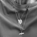 PALM LEAF NECKLACE SILVER