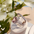 WHITE GOLD QUEEN MORGANITE RING